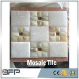 安い大理石のモザイク、試供品が付いている白い大理石のモザイク