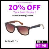 Mode femme nouveau style de lunettes de soleil acétate (FC8355)