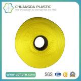 Hilado amarillo del filamento de los PP de la alta calidad para el cordón