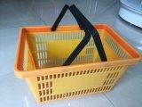 Nuovo pp cestino di plastica della maniglia di acquisto del supermercato di Zc-6