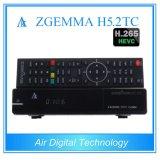 Europa Disponível H. 265 / Hevc Combo Receiver Zgemma H5.2tc Linux OS Enigma2 DVB-S2 + 2 * DVB-T2 / C Dual Tuners