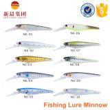 Прикорм рыболовства шикарных Minnow формы трудный пластичный