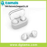 Anillo sin hilos invisible - auricular de Bluetooth Earbuds del en-Oído de los sonidos con el caso de carga