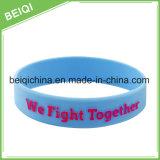 Fascia di manopola promozionale su ordinazione, Wristband registrabile del silicone, braccialetto promozionale del silicone