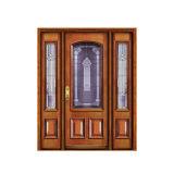 Porte d'entrée principale avant en bois de modèle de luxe en bois