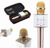 2 dans 1 microphone tenu dans la main de joueur sans fil portatif de karaoke avec le haut-parleur de Bluetooth