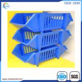 Plástico três cestas do Trapezoid do armazenamento do banheiro das camadas
