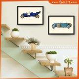 American Vintage style industriel de la peinture de tissu de toile Picture Frame à accrocher sur le mur de la décoration du Café Bar à Vin
