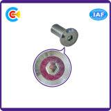 Builing 철도를 위한 DIN/ANSI/BS/JIS Carbon-Steel 또는 Stainless-Steel 4.8/8.8/10.9 둥근 맨 위 육각형 소매