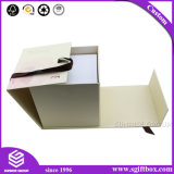 Подгонянная бумажная упаковывая коробка косметического подарка просто складная