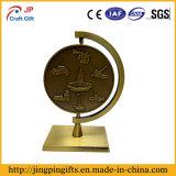 Medaglione e basamento su ordinazione del metallo di alta qualità
