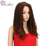 Faux Locs Crochet sèche de tressage de 18 pouces Hair Extensions 24 racines/pack Soft dreadlocks noire tresses de cheveux synthétiques
