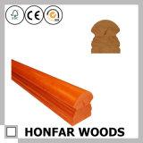 Balustrade en bois solide de chêne rouge de matériau de construction pour la construction d'escalier