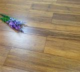 Laque UV carbonisée de plancher en bambou tissée par brin lisse