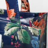 Hirtenblumenmuster Belüftung-Segeltuch-Einkaufstasche (2293-1)