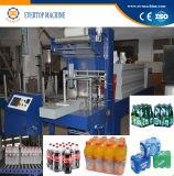 Botella automática que envuelve la máquina del envasado por contracción