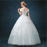 Атласный кружевной Puffy шарик платье свадебные платья (мечты-100069)