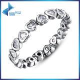 925 de Elegante Eenvoudige Zilveren Ring van de Vorm van het Hart Stering voor Minnaars & de Grootte Wit CZ 925 van het Ontwerp van de Elegantie 8# Italiaanse Zilveren Ring