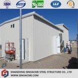Estructura del marco de acero para procesar la construcción del taller