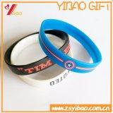 Douanes OEM gaufré de Silicone/bracelet gravé/Logo imprimé à la promotion