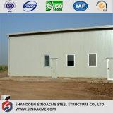 O edifício de armazenamento modular barato da construção de aço verteu para África