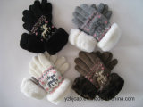 I guanti variopinti del jacquard dello schermo di tocco hanno lavorato a maglia i guanti acrilici di tocco dei guanti
