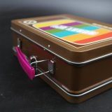 Colorful Handle Lunch Metal Box / Tin Can (C011-V3)