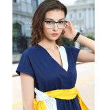 Aucuns femmes Anti-Bleus de bâti optique en verre de monocle de lunetterie de lentille de double acétate fabriqué à la main de MOQ