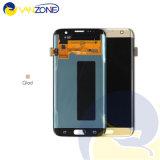 Экран касания LCD мобильного телефона для запасных частей агрегата цифрователя экрана касания индикации края галактики S7 Samsung