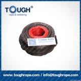 La corda sintetica dell'argano del nero 10mmx30m UHMWPE ha impostato per l'argano 4X4
