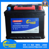 Batteria di automobile di lunga vita del piatto DIN62mf 12V62ah del calcio