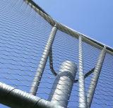 フェルールが付いているステンレス鋼ロープの網