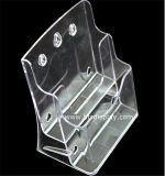 Ясное изготовление Btr-H6306-2 держателя брошюры автошин пластмассы A5 2