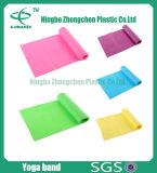 Venda natural elástico de la resistencia del látex de la venda de elástico de la correa del ejercicio de la venda de la resistencia del ejercicio