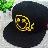 Custom черного хлопка шляпы мода Snapback колпачок с улыбкой вышитый