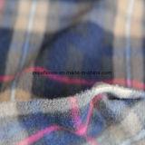 Antipillingの100%年のポリエステル小切手プリント北極の羊毛