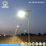 8m 60W Lumière LED de la rue avec panneau solaire