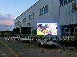 Signes variables de message de VMs de remorque de la publicité extérieure DEL d'écran polychrome de grand écran, panneau polychrome de l'étalage DEL
