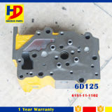 6D125 (6151-11-1102) Cabeça de cilindro para peças sobressalentes para motores a máquina de diesel