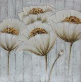 Vente chaude Fleur de l'art mural style peinture d'huile avec l'or fleur entendre