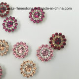 Ajuste frouxo novo da garra da flor de 2017 cristais da venda por atacado 9mm Swaro da chegada Sewing nos grânulos de vidro (rosa de TP-9mm redonda)