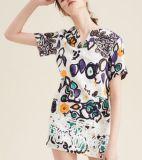 Il modo di estate il più in ritardo ha stampato il vestito delle donne del manicotto di Short dello scarabocchio del jacquard