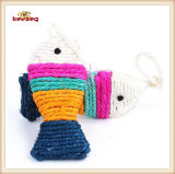 Pet Product Colorful Sisal Fish Cat Toy (KB3013)