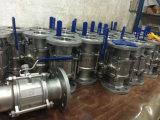 El acceso lleno del estruendo 3-PC 3-Piece ensanchó fabricante de la fábrica de la vávula de bola de Ss/CS 1000wog (PN63)
