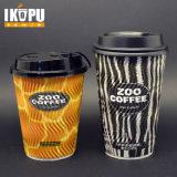 熱い飲料のための4oz-22ozさざ波の紙コップ