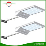 Outdoor Garden Light Ultrathin 36 LED Sensor de Movimento Solar Light Sensor Humano Pathway Solar Lamp with Montage Pole