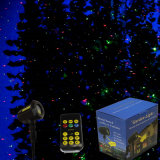 Indicatore luminoso per natale, Ce esterno RoHS della decorazione dell'albero del laser dell'acquazzone del laser della stella