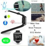 Le bracelet de sport de mode avec le moniteur du rythme cardiaque d'ECG et imperméabilisent