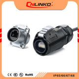 이더네트를 위한 IP/65/IP67 남여 연결관에 전기 PBT 물자 RJ45 8pin 연결관