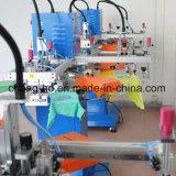 3개의 색깔 평상형 트레일러 회전하는 스크린 인쇄 기계